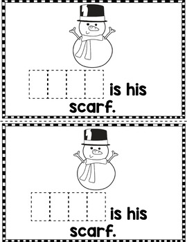 "Sight Word Books:  ""HERE is the Snowman"" Interactive reader"