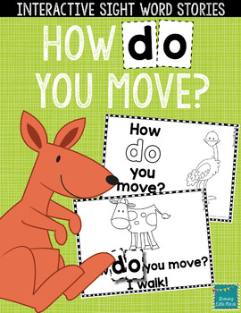 """Sight Word Books:  """"How Do You Move?"""" Interactive reader"""