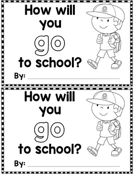 "Sight Word Books:  ""How Will You GO to School?"" Interactive reader"