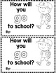 """Sight Word Books:  """"How Will You GO to School?"""" Interactiv"""