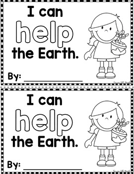 """Sight Word Books: I Can HELP the Earth"""" Interactive Reader"""