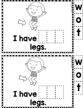 """Sight Word Books:  """"I Have TWO?"""" Interactive reader"""