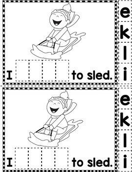 "Sight Word Books:  ""I LIKE Winter"" Interactive reader"