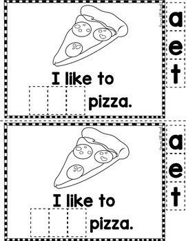 """Sight Word Books:  """"I Like to EAT"""" Interactive reader"""
