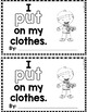 "Sight Word Books:  ""I PUT On My Clothes"" Interactive reader"
