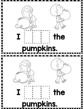 """Sight Word Books:  """"I SEE Fall"""" Interactive reader"""