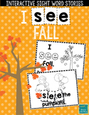 "Sight Word Books:  ""I SEE Fall"" Interactive reader"
