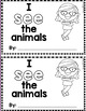 "Sight Word Books:  ""I SEE the Animals"" Interactive reader"