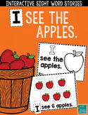 "Sight Word Books:  ""I See the Apples"" Interactive reader"