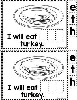 "Sight Word Books:  ""I Will Eat THE Food"" Thanksgiving reader"