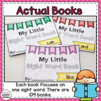 Sight Word Books ~ Interactive Readers for K & 1st Grade ~ FREE SAMPLER PACK!