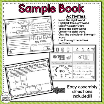 Sight Word Books - Kindergarten and 1st Grade Fluency Practice