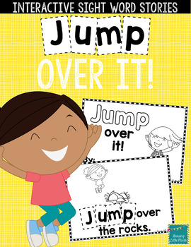 "Sight Word Books:  ""JUMP Over It!"" Interactive reader"