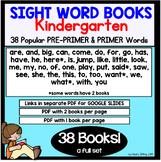 SIGHT WORD BOOKS Kindergarten - Google Slides or PDF