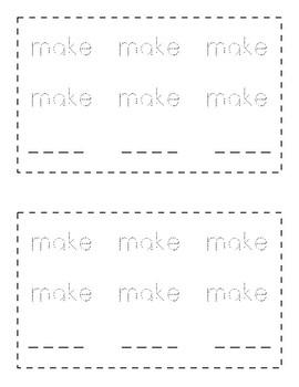 Sight Word Book - MAKE