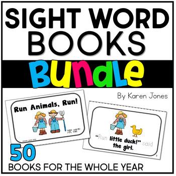 Sight Word Books BUNDLE  {50 Books}