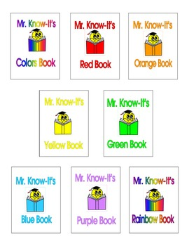Sight Word Books PreK-K by Mr. Know-It