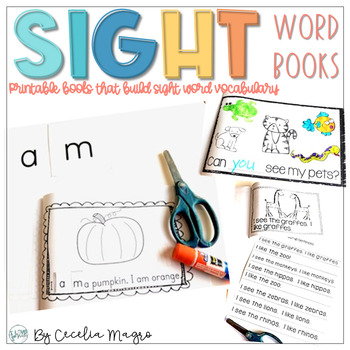 photograph about Sight Word Printable Books called Sight Operates E-book Worksheets Training Components TpT