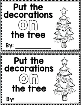"Sight Word Books:  ""Put the Decorations ON the Tree"" Interactive reader"