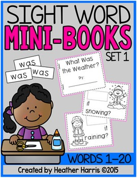 Sight Word Mini Books: Set 1