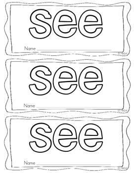 Sight Word Books Set #1
