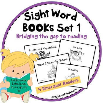 Sight Word Books Set 1 for Beginning Guided Reading