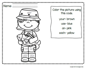 Sight Word Books and Color By Sight Word- Set 2