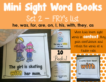 Sight Word Books - Set 2