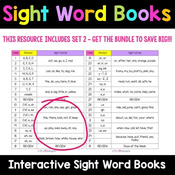 Sight Word Books - Set 2