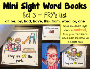 Sight Word Books - Set 3