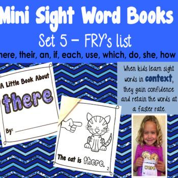 Sight Word Books - Set 5