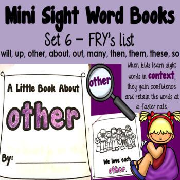 Sight Word Books - Set 6
