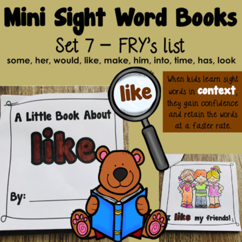 Sight Word Books - Set 7
