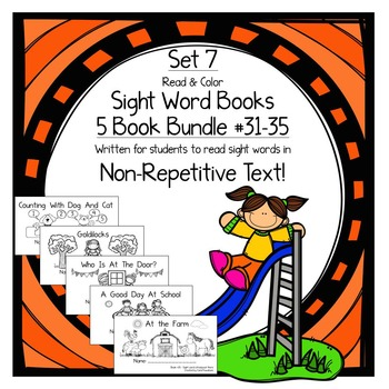Sight Word Books-Set 7-all,that,who,went,there; Sight Word Books #31-35 Bundle
