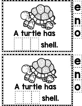 "Sight Word Books:  ""The Animal has ONE"" Interactive reader"