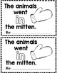 "Sight Word Books:  ""The Animals Went IN the Mitten"" Interactive reader"