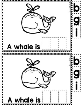 "Sight Word Books:  ""The Animals are BIG"" Interactive reader"