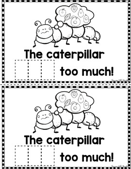 "Sight Word Books:  ""The Caterpillar ATE"" Interactive reader"