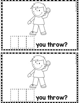 """Sight Word Books:  """"What CAN you do?"""" Interactive reader"""