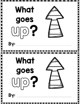 """Sight Word Books:  """"What Goes UP?"""" Interactive reader"""
