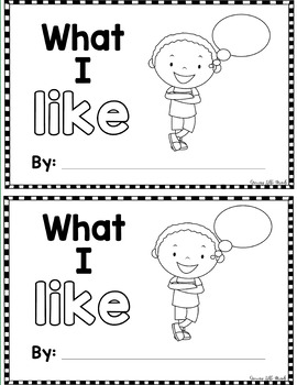 "Sight Word Books:  ""What I LIKE"" Interactive reader"