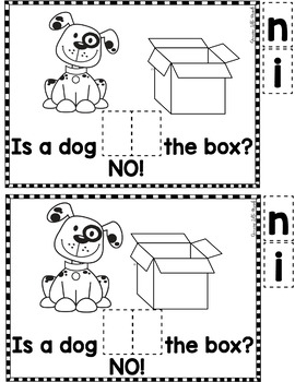 """Sight Word Books:  """"What is IN the Box?"""" Interactive reader"""