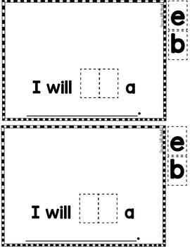 """Sight Word Books:  """"What Will You BE for Halloween?"""" Interactive reader"""