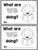 """Sight Word Books:  """"What are WE doing?"""" Interactive reader"""