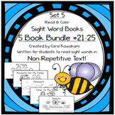 Sight Word Books: Set 5-me, for, they, come, look; Sight Word Books #21-25Bundle