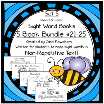 Sight Word Books: Set 5-me, for, they, come, look; Sight W