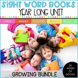 Sight Word Books - Year long unit