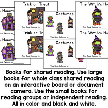 Sight Word Books and Activities: Halloween
