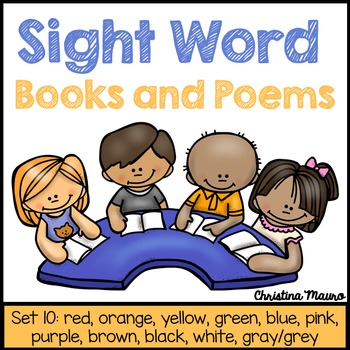 Sight Word Books and Poems - Set 10