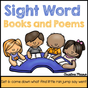 Sight Word Books and Poems - Set 6